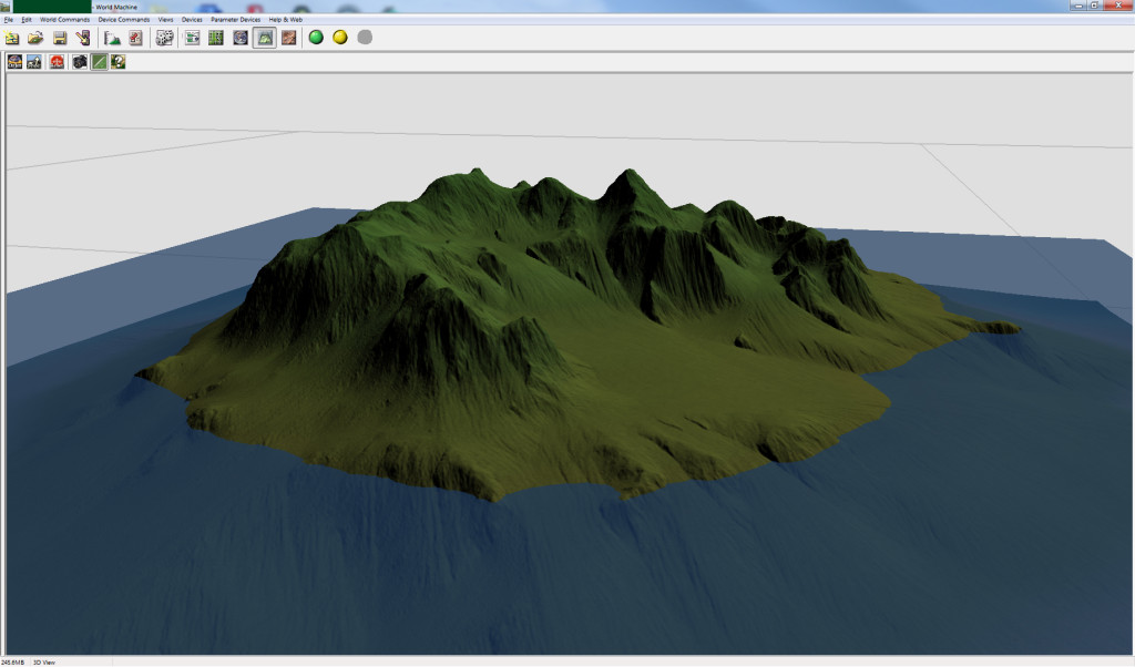 Basalt Peaks  World Machine Screen Capture