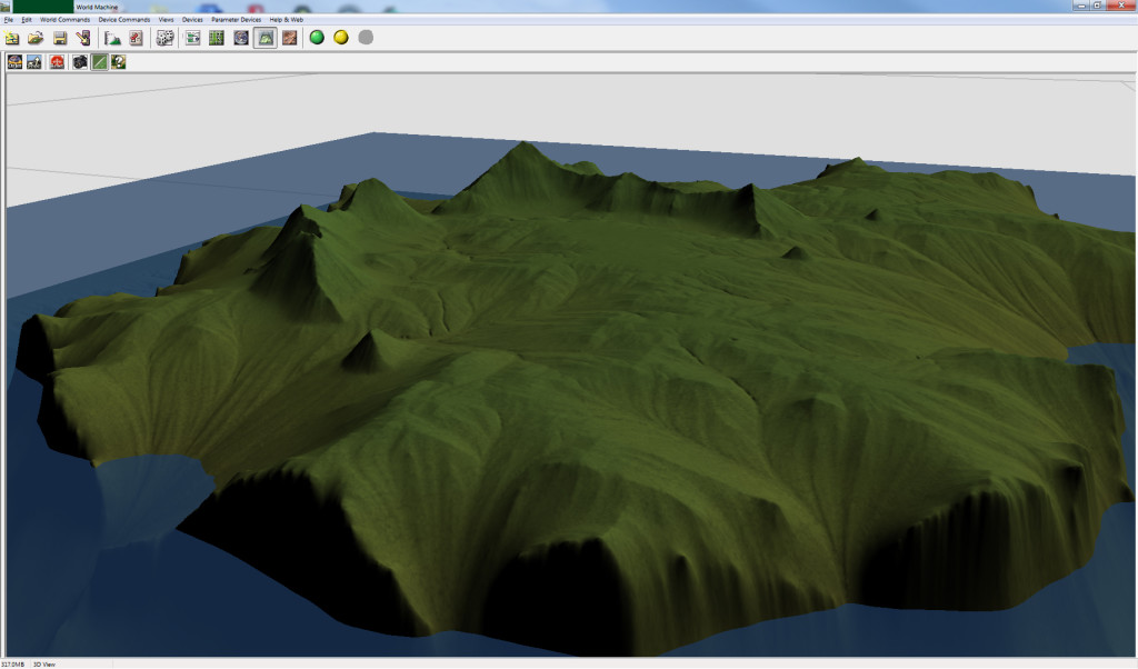 Island Cliffs and Plateaus  World Machine Screen Capture